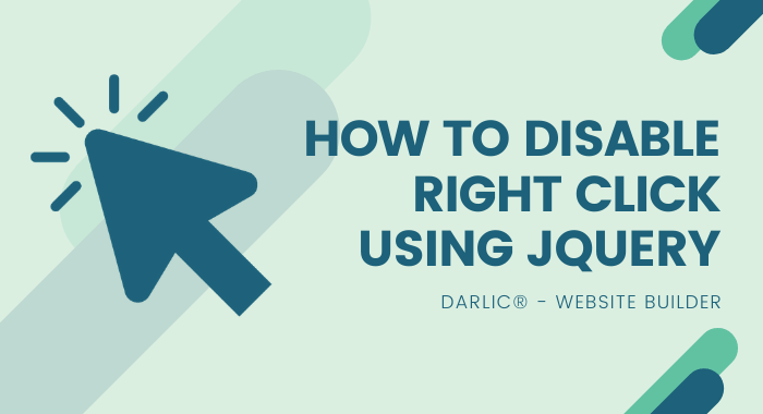 How to Disable Right Click Using jQuery-darlic-website-builder