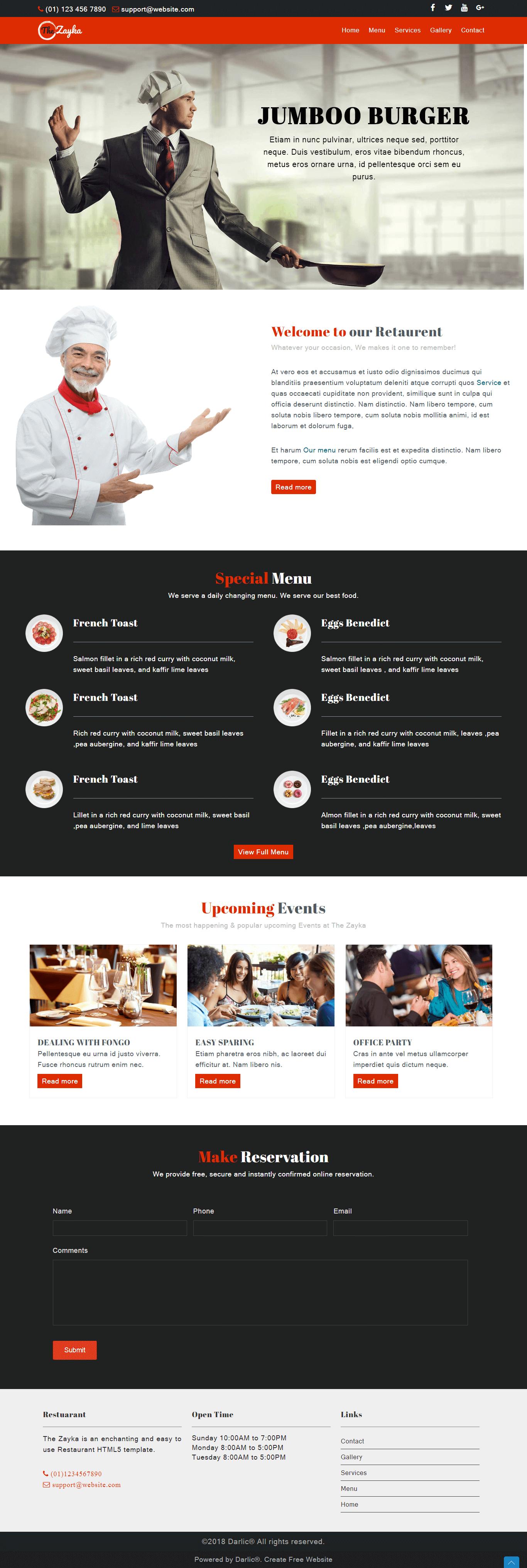 Template Restaurant