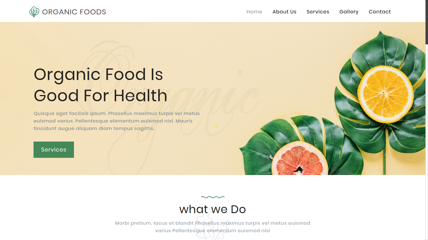 Template Organic Foods