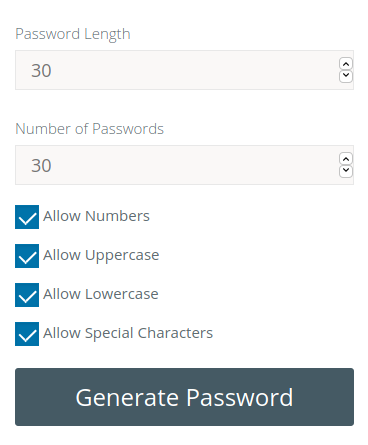 Free Online Secure Password Generator Tool